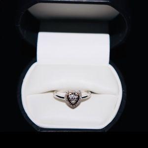 Jewelry - Silver white gold diamonds 925 14k size 7-8